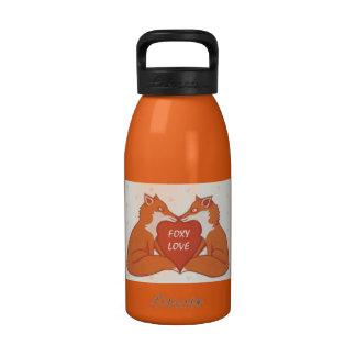 Botella de agua astuta del marrón del amor
