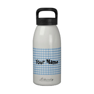Botella de agua azul de la guinga - personalizada