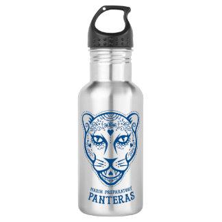 Botella de agua azul preparatoria de Marin Pantera