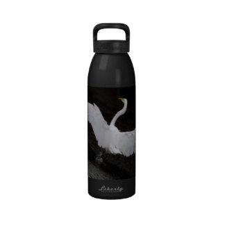 Botella de agua blanca del aluminio del Egret