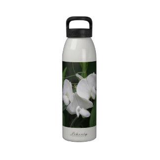 Botella de agua blanca del guisante de olor