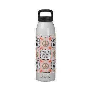 Botella de agua BPA Fre de la ruta 66 del viaje po
