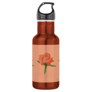 Botella de agua color de rosa anaranjada (18
