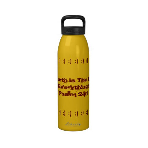 ¡Botella de agua, color oro, para el Día de la Tie