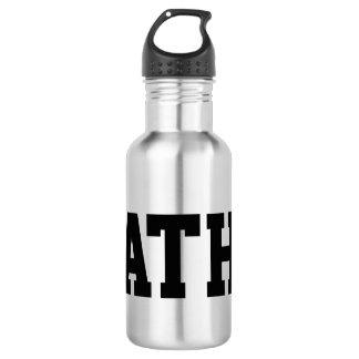 Botella de agua con monograma de encargo del acero