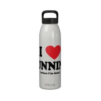 botella de agua corriente del amor divertido de i