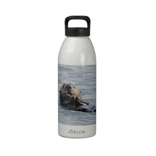 Botella de agua de Alaska de la nutria de mar