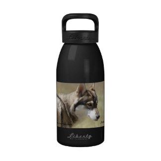 Botella de agua de aluminio del lobo 16 onzas