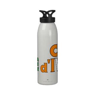 Botella de agua de Costa de Marfil