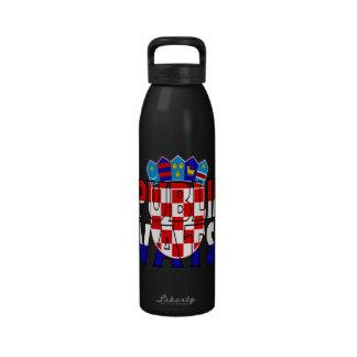 Botella de agua de Croacia