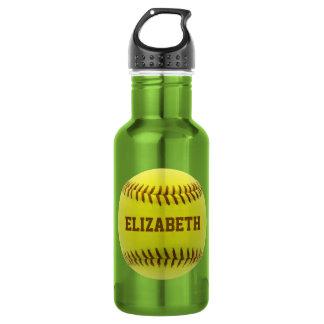 Botella de agua de encargo de la bola del softball