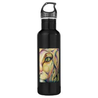 Botella de agua de encargo del arte del león