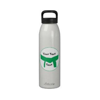 Botella de agua de encargo del cinturón verde de l
