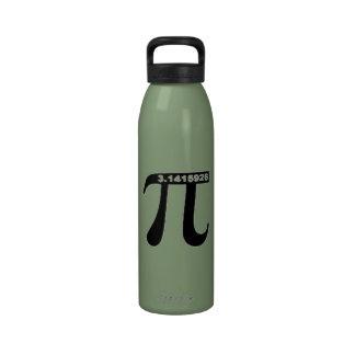 Botella de agua de encargo del pi (elija el tamaño