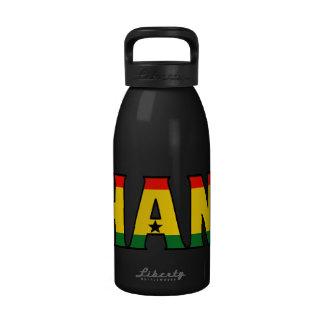 Botella de agua de Ghana