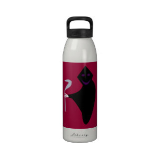 Botella de agua de Halloween del parca
