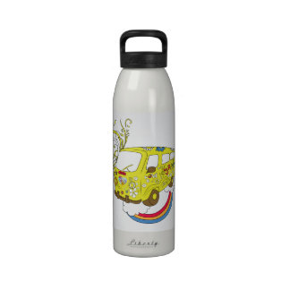 Botella de agua de Hippy Van BPA FREE