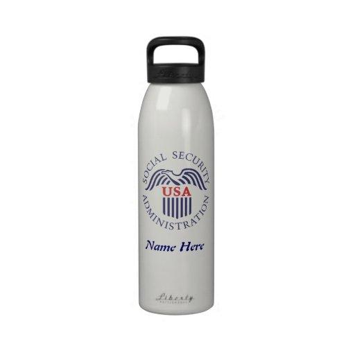Botella de agua de la administración de Seguridad