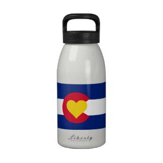 Botella de agua de la bandera de Colorado