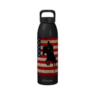 Botella de agua de la bandera de los E.E.U.U. del