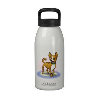 Botella de agua de la chihuahua