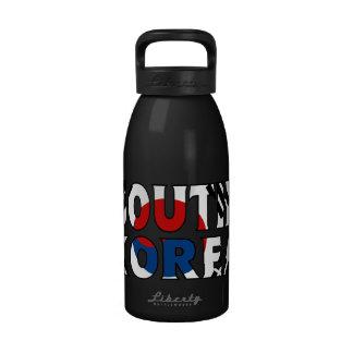 Botella de agua de la Corea del Sur