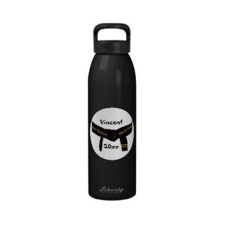 Botella de agua de la correa negra del segundo gra