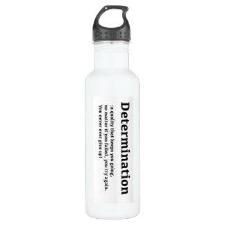 Botella de agua de la determinación