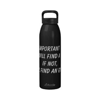 Botella de agua de la inspiración de la aptitud, p