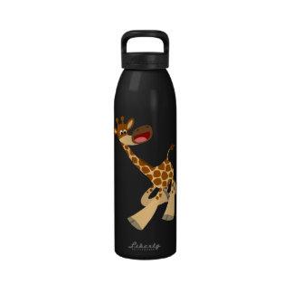 Botella de agua de la jirafa del dibujo animado qu