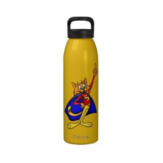 Botella de agua de la libertad del gato del dibujo