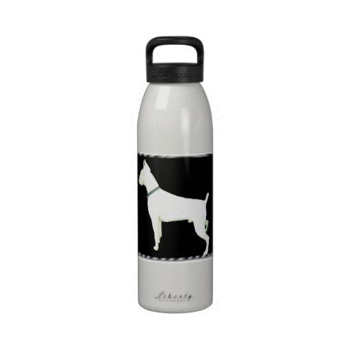 Botella de agua de la libertad del perro del boxea