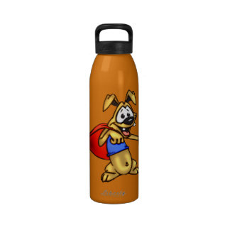 Botella de agua de la libertad del perro del dibuj