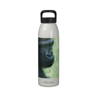 Botella de agua de la mirada del gorila