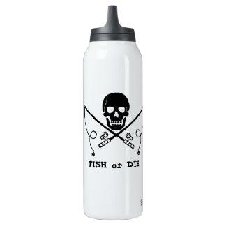 Botella de agua de la pesca del pirata