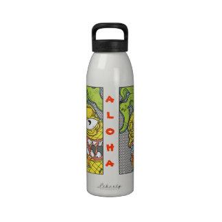 Botella de agua de la piña de la hawaiana