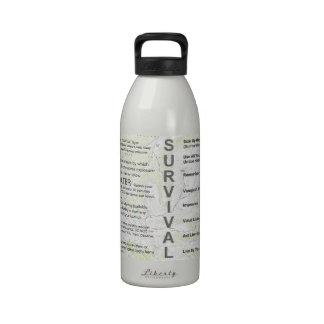 Botella de agua de la supervivencia