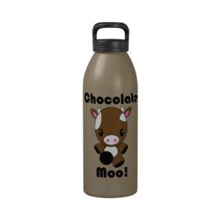 Botella de agua de la vaca del MOO Kawaii del choc