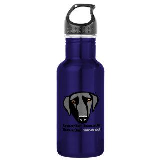 Botella de agua de Labrador.  ¡Tejido!