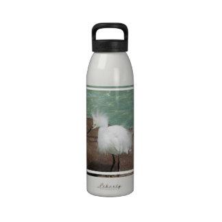 Botella de agua de los Egrets nevados