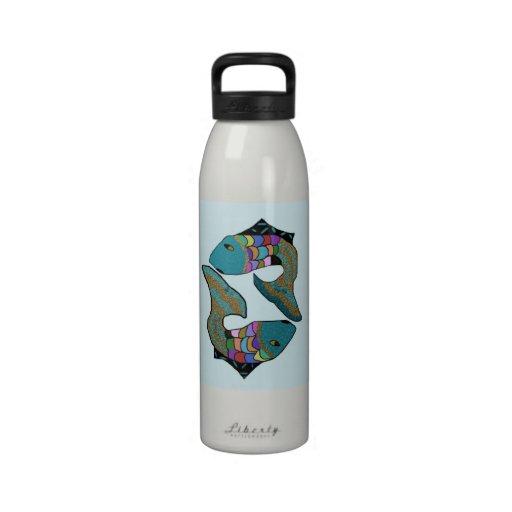 Botella de agua de los gemelos de Piscis