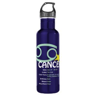 Botella de agua de los rasgos del cáncer