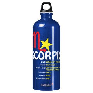 Botella de agua de los rasgos del escorpión