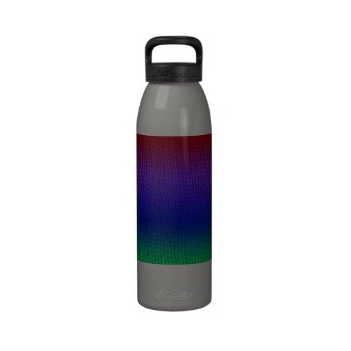 Botella de agua de Stockinette del arco iris