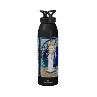 Botella de agua del acuario de Nouveau del arte