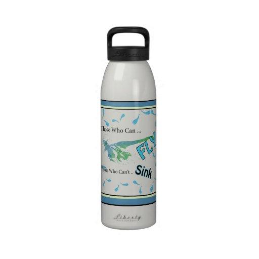 Botella de agua del aluminio de los nadadores