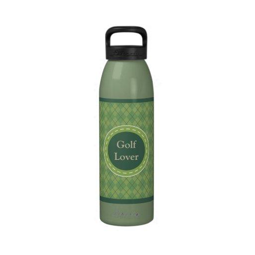 Botella de agua del amante del golf