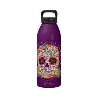 Botella de agua del arte del cráneo del azúcar