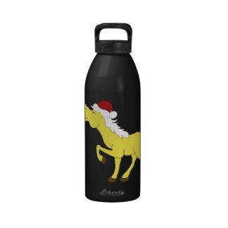 Botella de agua del caballo del Palomino del gorra