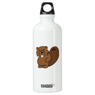 Botella de agua del castor de la lógica de la
